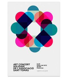 Color circle -- interesting idea for #mastectomy #nipple replacement #tattoo. [p-ink.org] Solidary Concert Poster by MARIN DSGN, via Flickr