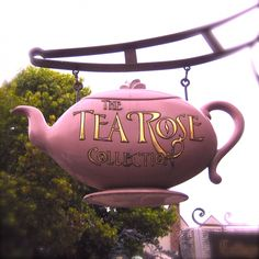 That would make me want to go inside even if  I didn't drink tea. It is adorable.