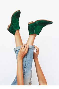 green booties - AMAZING