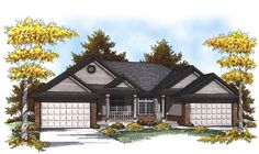 Multi-Family Plan 73451 | Traditional Plan with 2515 Sq. Ft., 4 Bedrooms, 4 Bathrooms, 4 Car Garage