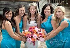 Wedding photography bride and bridesmaids portrait