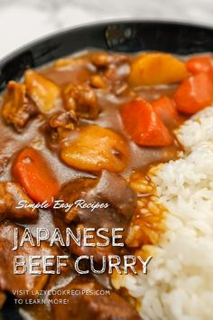 Japanese curry rice is an amazingly well known dish in Japan! A wide range of meats and vegetables can be used to make this curry and this hearty beef curry with potato and carrot has a tasty sauce nobody will be able to resist. It is an authentic Japanese cuisine recipe with simplified steps and ingredients required! Check out our website where could you find the written step by step recipes with images and videos to teach you how to become a better cook at home!