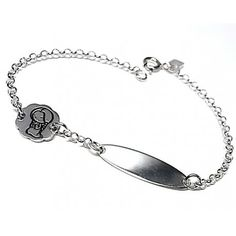 69ce60a5e6a6 Pulsera de plata de primera ley esclava infantil para niña con cadena rolo.  Ideal para