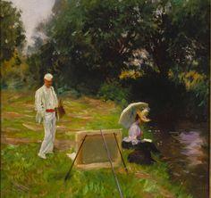 Dennis M. Bunker pintando en Calcot, Sargent, 1888 Sociarte: IMPRESIONISMO AMERICANO