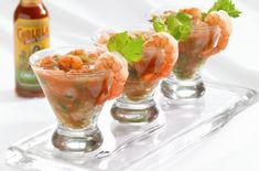 Коктейль из креветок с сыром к шампанскому Империя вкусов Hot Sauce Recipes, New Recipes, Cooking Recipes, Favorite Recipes, Healthy Recipes, Party Recipes, Cooking Tips, Shrimp Appetizers, Shrimp Recipes