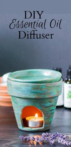 DIY Essential Oil Diffuser, A tutorial that shows you how to make your own burn for the very popular essential oil movement. ~ A popular pin from Garden Matter.