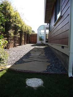slate path on side of house... one day