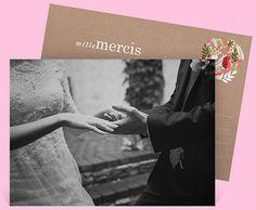 remerciement mariage rf n11182 du faire part mariage rfn32176 une belle petite carte afin de dire mille mercis vos proches pour leur prsence en ce - Milles Merci Mariage