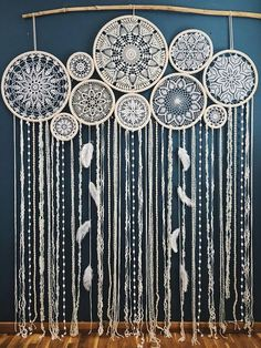 Dream catcher wall hanging, boho chic decor, giant dream catcher, large dreamcatcher, wedding dreamcatcher – Diy Home Crafts Grand Dream Catcher, Dream Catcher Wedding, Big Dream Catchers, Large Dream Catcher, Dream Catcher Boho, Doily Dream Catchers, Dream Catcher Decor, Centerpiece Decorations, Wedding Decorations
