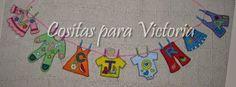Cositas para Victoria: NOMBRE EN FIELTRO