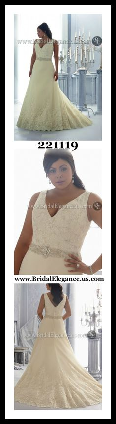 #PlusSize #WeddingGown #WeddingWednesday #RealWoman #NotASize2 @BridalElegance www.BridalElegance.us.com