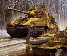 King Tiger - Battle of the Bulge Ardennes Belgium/ Luxembourg December 1944