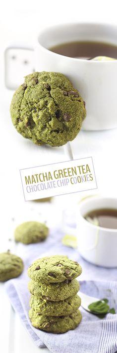 Heavenly Matcha chocolate chip cookies! #Japaneasy