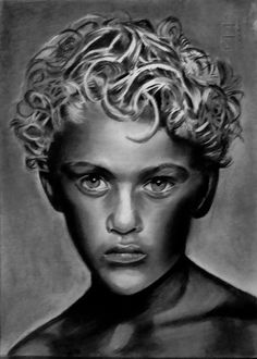 Angel blond   Art Michele   technique: Fabriano paper size 24x33   pencils faber castell B-12B   about hours running 32