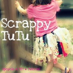 Scrap Fabric TuTu- I think my nieces will be getting this for Christmas! Diy Projects To Try, Sewing Projects, Fabric Tutu, Fabric Scraps, Scrap Fabric, How To Make Tutu, Diy Tutu, Tutu Tutorial, Scrap Material