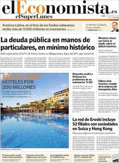 Los Titulares y Portadas de Noticias Destacadas Españolas del 2 de Diciembre de 2013 del Diario El Economista ¿Que le pareció esta Portada de este Diario Español?