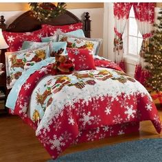Christmas bedroom or rather, I think your ugly Christmas sweater threw up in there