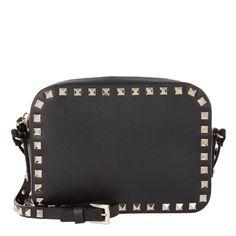 441081be3e4c Valentino Tasche – Rockstud Camera Crossbody Bag Black – in schwarz –  Umhängetasche für Damen
