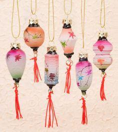 Minature Chinese Lantern Ornaments