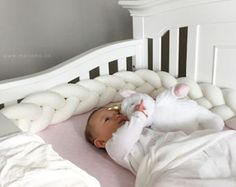 Plush Braided Cushion  Crib Bumper crib bedding braided