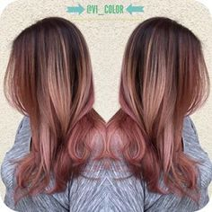 rose quartz ombre hair - Google Search