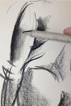 Charcoal art technique