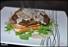 Steak v hubovej omáčke