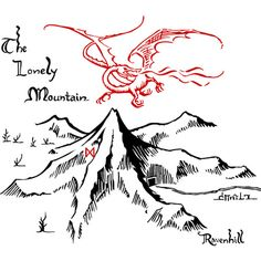 Smaug and The Lonely Mountain Art Print