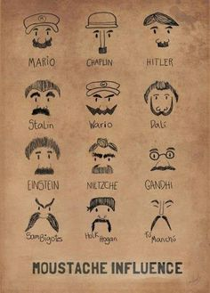 have tables be themed as different famous ppl who had staches