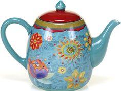 Hand Painted Ceramic Dinnerware Tunisian Sunset 40-Ounce Teapot Serveware New #TeaPot