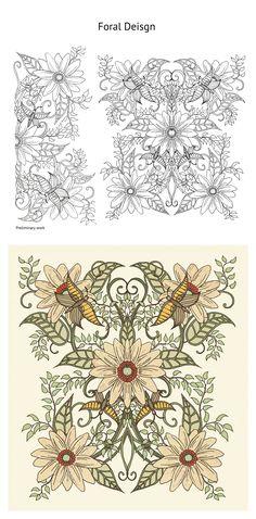 Olivia Linn Sørensen New York, NY, USA Foral pattern designs for textile on Behance