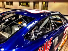 The Hawk Performance logo flying on the Blue Deuce driven by Brad Keselowski at Bristol Motor Speedway