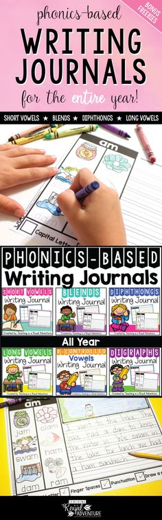 These pre-made phonics-based writing jounals not only help students build confidence in reading comprehension, they also build stronger literacy skills.