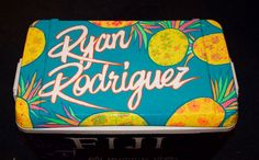 Cooler Designs, Cooler Painting, Sorority Crafts, Coolers, Neon Signs, Crafty, Pattern, Tables, Top