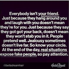 So true, sometimes you learn it the hard way.