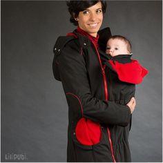 Liliputi® Babywearing Mama Coat Black-red