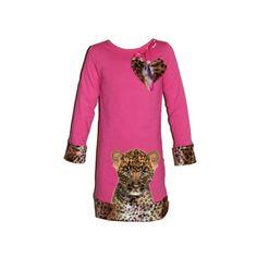 roze cheetah dress janey-kidswear | little ladies Jurkjes | Trendy fashion yess-style