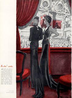 Jean Dessès 1937 Elegant, Evening Gown, Monte-Carlo Opera, Pierre Mourgue