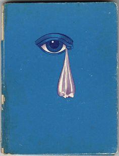 Ilustración de Alan Aldridge.* Trippy psychedelic eye tear book cover retro vintage