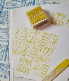 Diy stamps with yarn