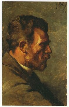 "Pablo Picasso, Father's painter Face of Profile (""Don José Ruiz de Perfil""), 1895 on ArtStack #pablo-picasso #art"