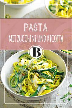 Für knackige Würze sorgt bei diesem Pasta-Gericht die fruchtige Gremolata mit Estragon, Knoblauch, Kürbiskernen und Limettenschale. Ricotta, Limettensaft und Sahne veredeln die Soße.