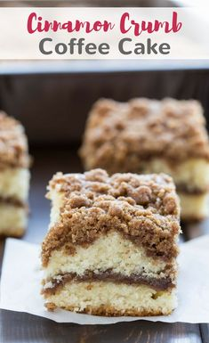 Cinnamon Crumb Coffee Cake with a thick cinnamon streusel topping over fluffy, buttery cake, and a ribbon of melty cinnamon through the center. #coffeecake #cinnamon #breakfast #cake via @introvertbaker