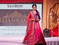Asian Wedding Fashion Bridal Pink & Purple Lengha gown from Ekta Solanki Check out this great fashion look I found on http://www.AsianBride.me