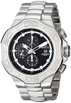 Men's Wrist Watches - Invicta Mens 12427 DNA Chronograph Stainless Steel Bracelet Watch * You can find out more details at the link of the image.