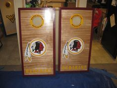 Washington Redskins Cornhole Boards and bags regulation size.... Jarrod would love these