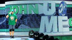 John Cena makes his entrance.