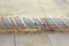 Stacking rings gold ring rose gold ring SIMPLE by BlueSunflowers