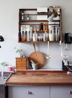 Emmas Vintage. Lampe på kjøkkenet