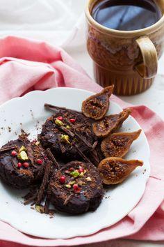 Black Bean Chocolate and Fig Cookies
